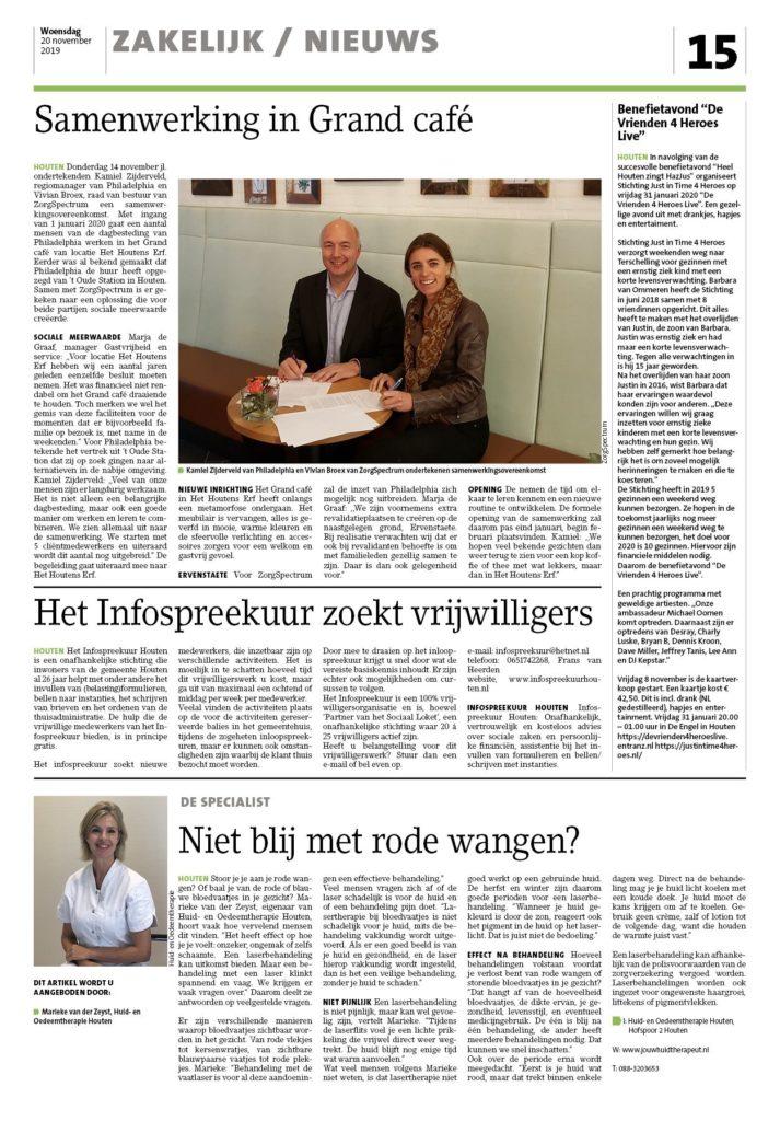 Jouw Huidtherapeut - huidspecialist - oedeemspecialist - krant Houtens Nieuws_15