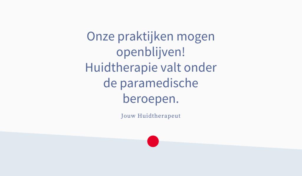 Jouw Huidtherapeut - Mag huidtherapeut huidtherapie doorgaan corona lockdown maatregelen